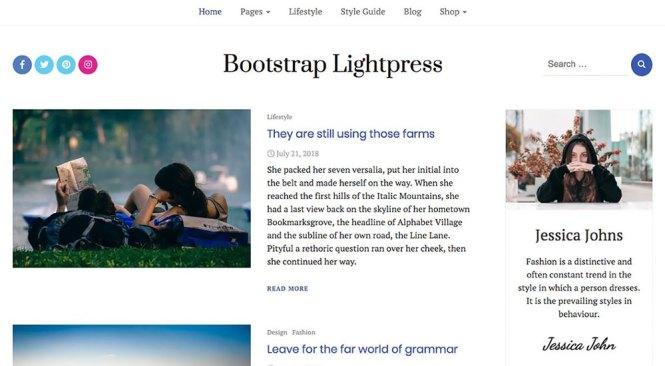 Thème WordPress Lightpress