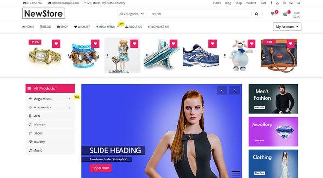 Thème WordPress NewStore