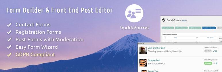 BuddyForms WordPress и BuddyPress Form Builder