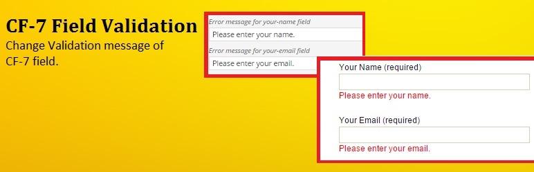 Контактная форма 7 Пользовательские проверки Бесплатное дополнение