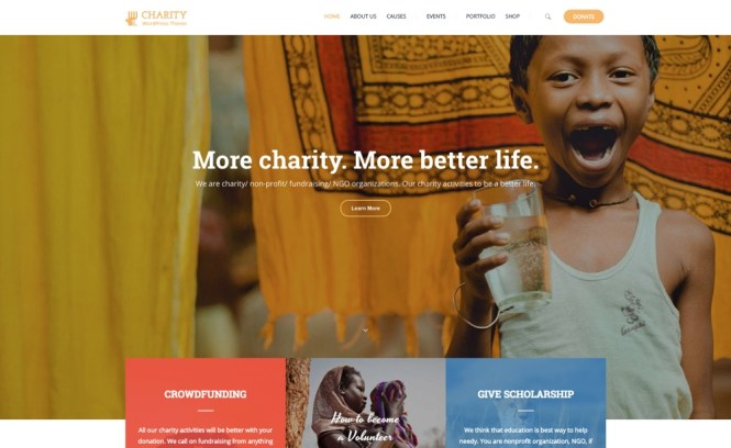 Charity WP Thème WordPress
