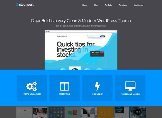 Thème WordPress CleanPort Business
