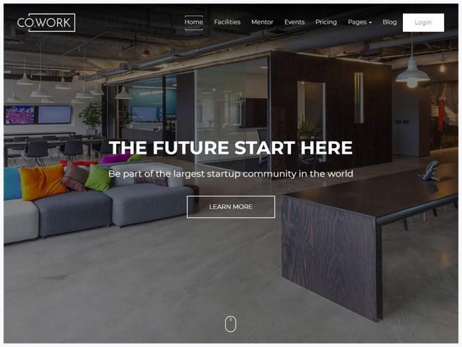 CoWork - Thème WordPress pour espaces de travail ouverts et espaces créatifs