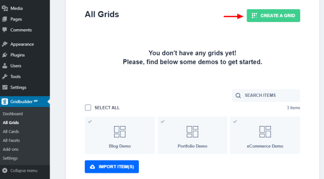 créer une nouvelle grille