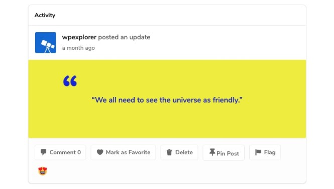 BuddyPress Ajouter un devis