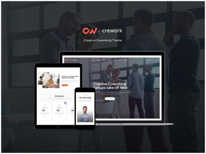 Crework - Espace créatif et thèmes WordPress pour le coworking