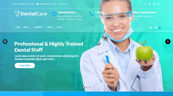 Thème WordPress pour soins dentaires