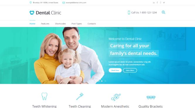 Thème WordPress dentaire de clinique dentaire