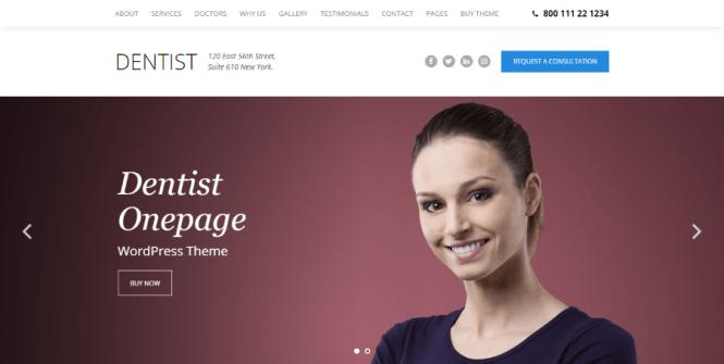 Thème WordPress pour dentiste dentaire