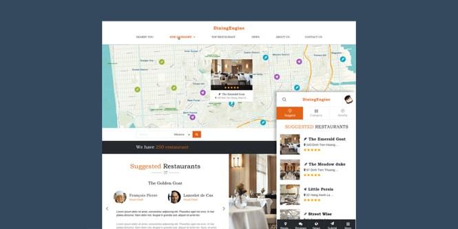 Répertoire de restaurants Répertoire de restaurants Thème WordPress