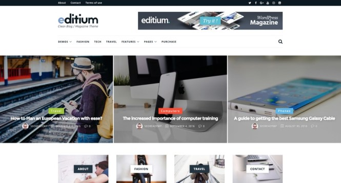 Editium Clean WordPress Blog Magazine Thème
