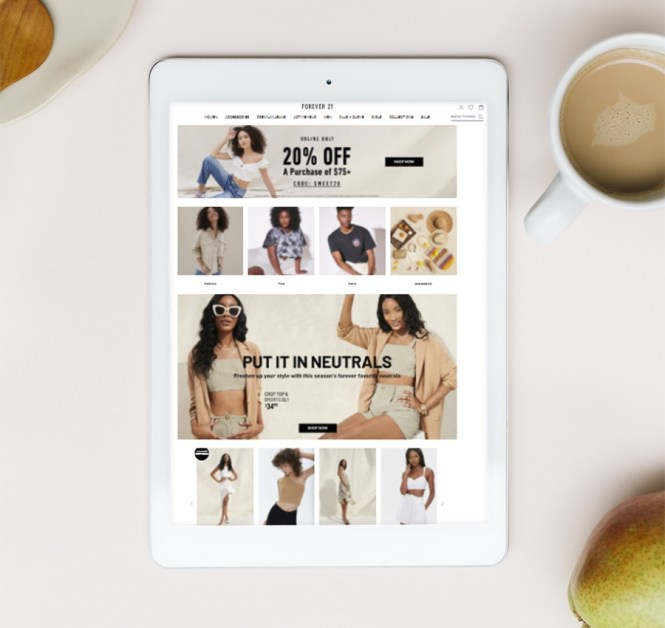 Exemple: site Web Forever21