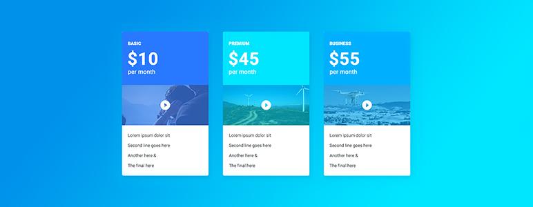 Drag & Drop Ценообразование Бесплатный плагин WordPress