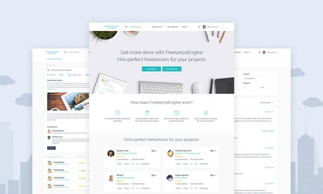 Meilleurs thèmes WordPress: FreelanceEngine Thème WordPress