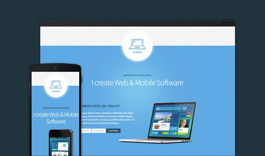 Freelancer Single Page WordPress Theme