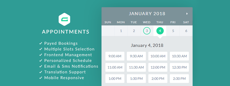 gAppointments Gravity Forms Appointments Premium WordPress Plugin
