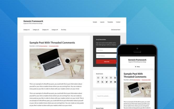 Meilleurs thèmes WordPress: Genesis Thème Thème Framework
