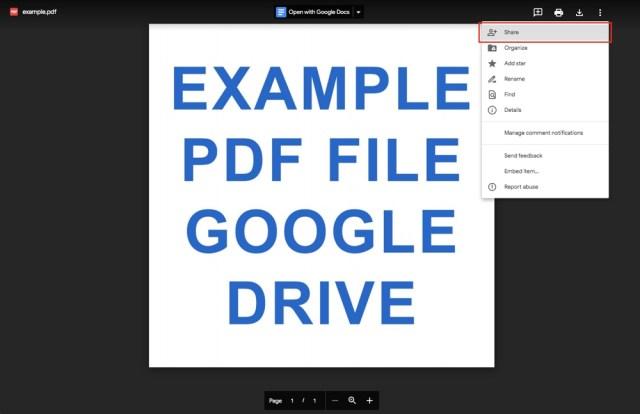 Google Drive: Share