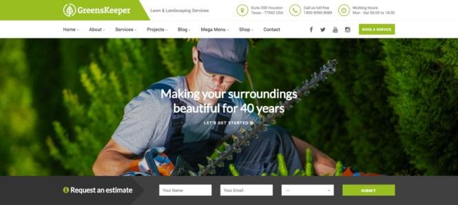 GreensKeeper Gardening & Landscaping Thème WordPress