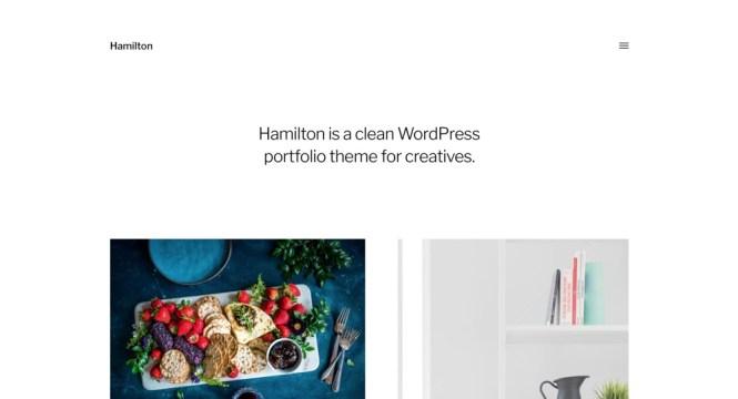 Hamilton - Meilleurs thèmes WordPress Gutenberg