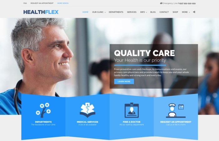 Tema de WordPress de Healthflex
