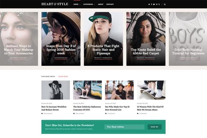 Thème de magazine réactif Heart & Style