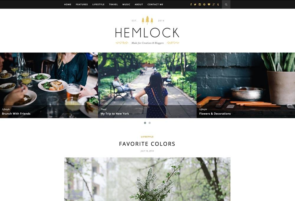 Hemlock Responsive WordPress Blog Theme