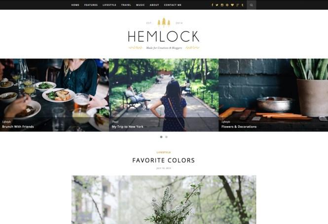 Thème de blog WordPress réactif Hemlock
