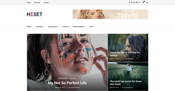 Heset Blog Magazine Thème WordPress