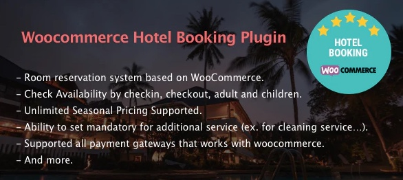 WooCommerce Hotel Booking Plugin