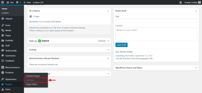 comment installer un nouveau plugin wordpress