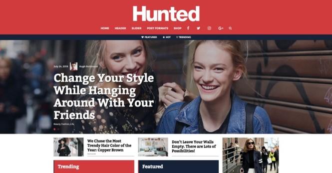 Hunted Editorial Magazine Thème WordPress
