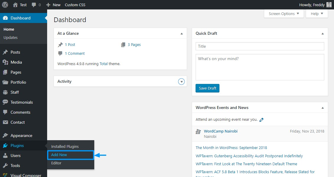 installing a new wordpress plugin