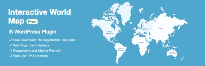 Carte du monde interactif gratuit WordPress Plugin