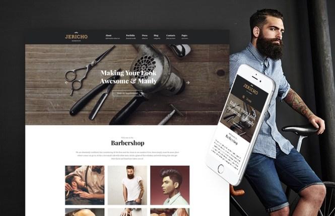 Thème WordPress moderne de Jericho Barber Shop