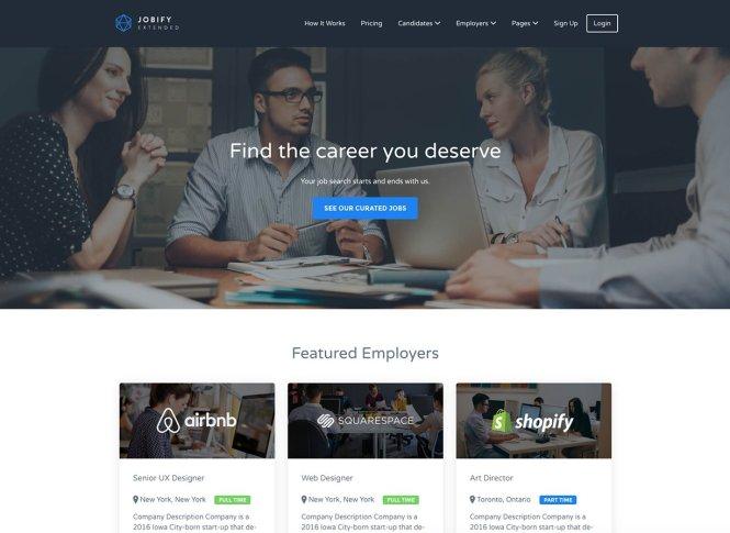 Thème WordPress Jobify Business