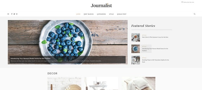 Journaliste Magazine WordPress Theme