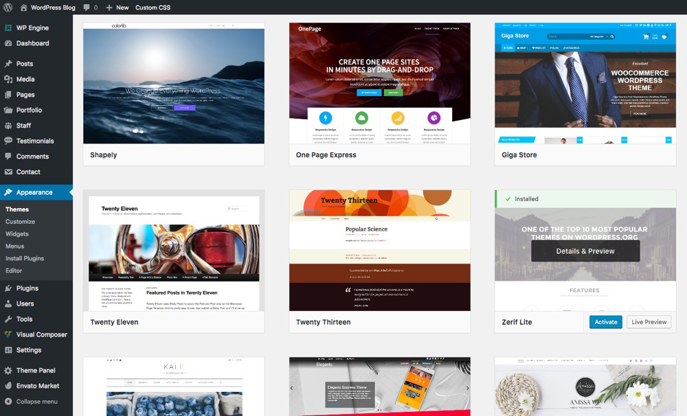 Activate A Landing Page Theme