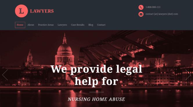 Avocats Responsive WordPress Attorneys Thème