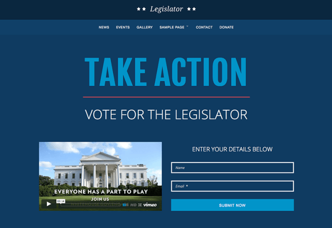 Legislator Charity Thème WordPress