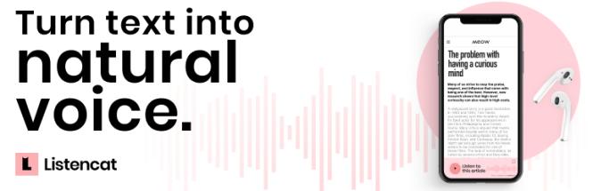 Plugin WordPress Listencat Text to Speech
