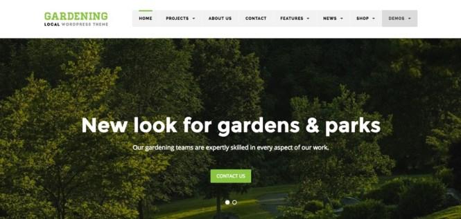Entreprise locale - Thème WordPress pour le jardinage