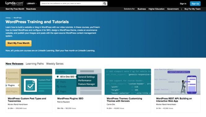 Divers cours WordPress sur Lynda.com