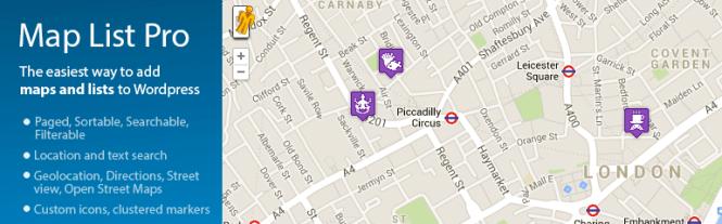 Meilleurs plugins de mappage: Map List Pro