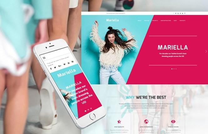 Thème WordPress Mariella Fashion Designer