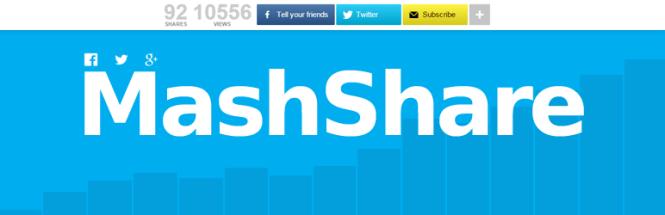 Boutons de partage des médias sociaux de MashShare