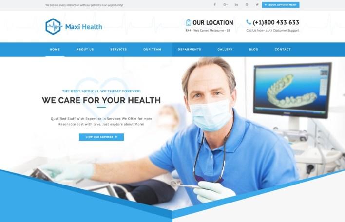 Tema de WordPress de Maxi Health