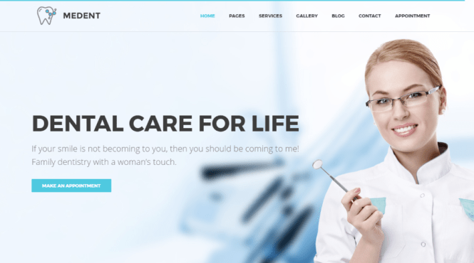 Thème WordPress Medent Dental