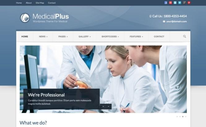 Medical Plus - Thème médical réactif et santé