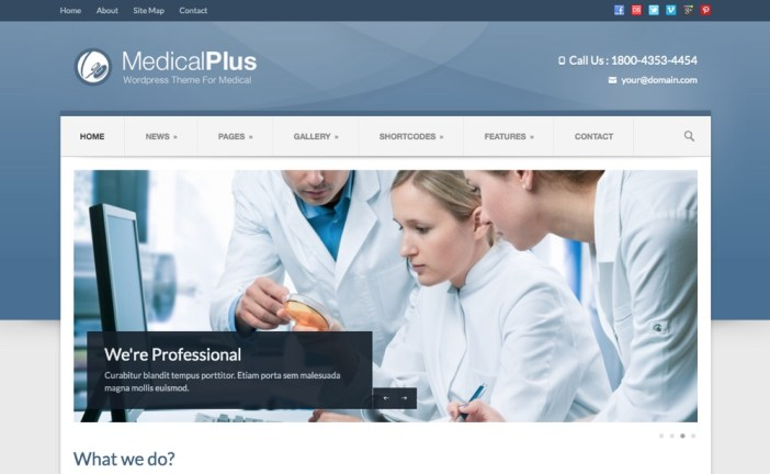 Medical Plus - Tema sensible de salud y salud